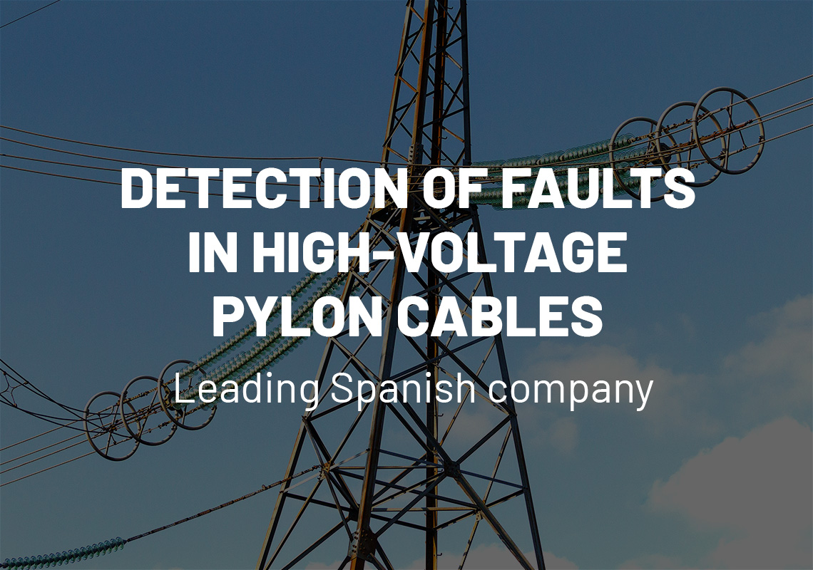 Detection of faults in high-voltage pylon cables