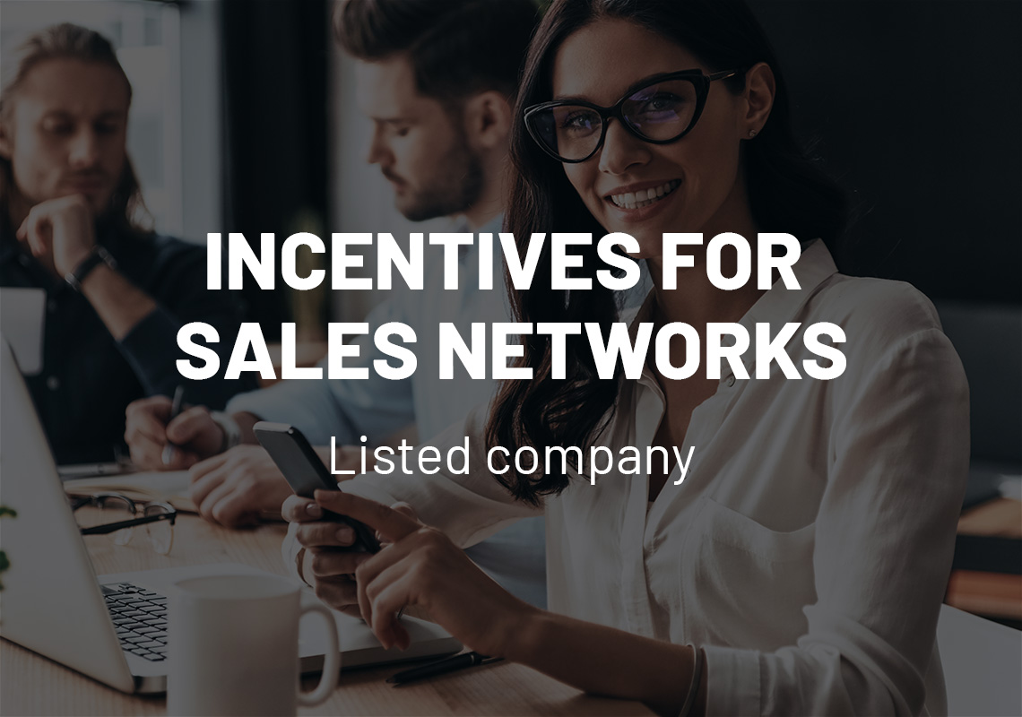 Incentives for sales networks