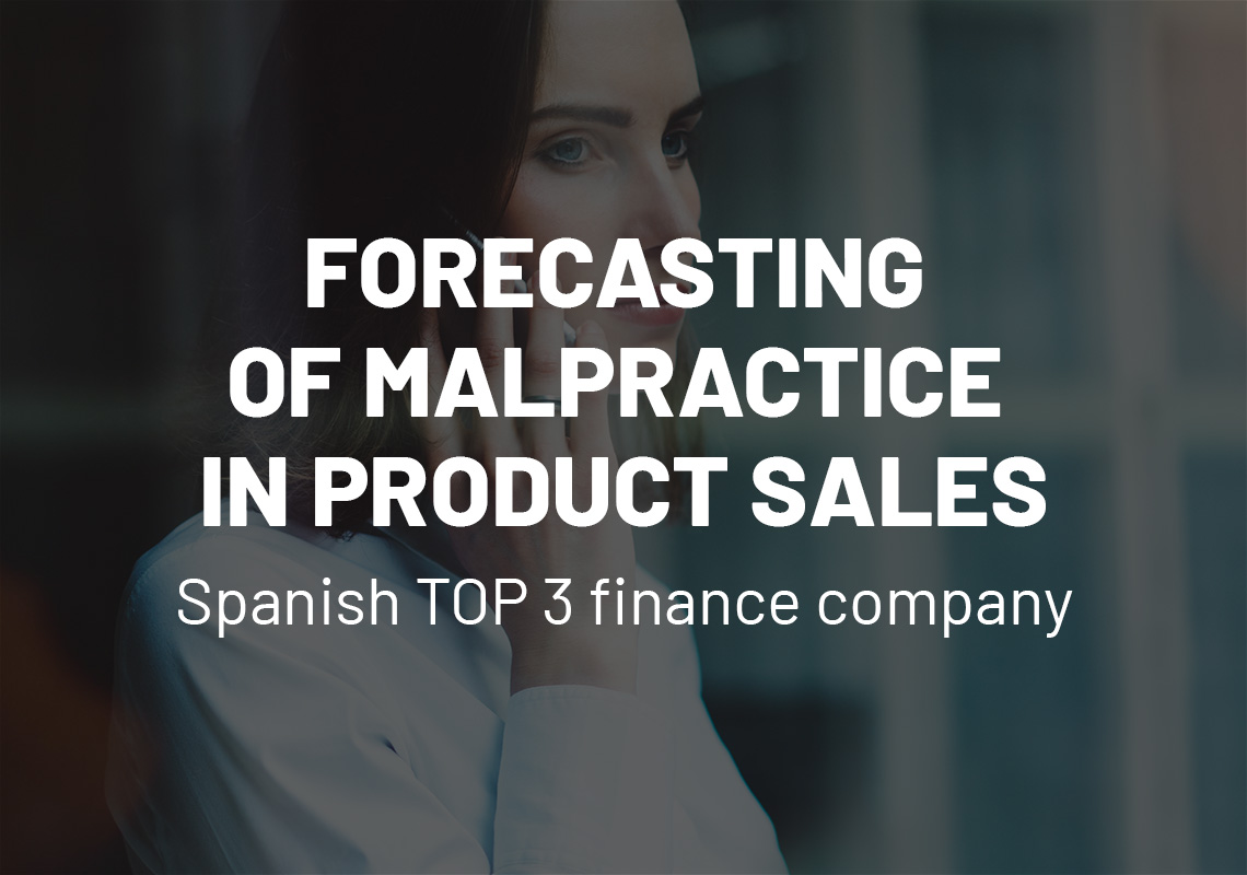 Forecasting of malpractice in product sales