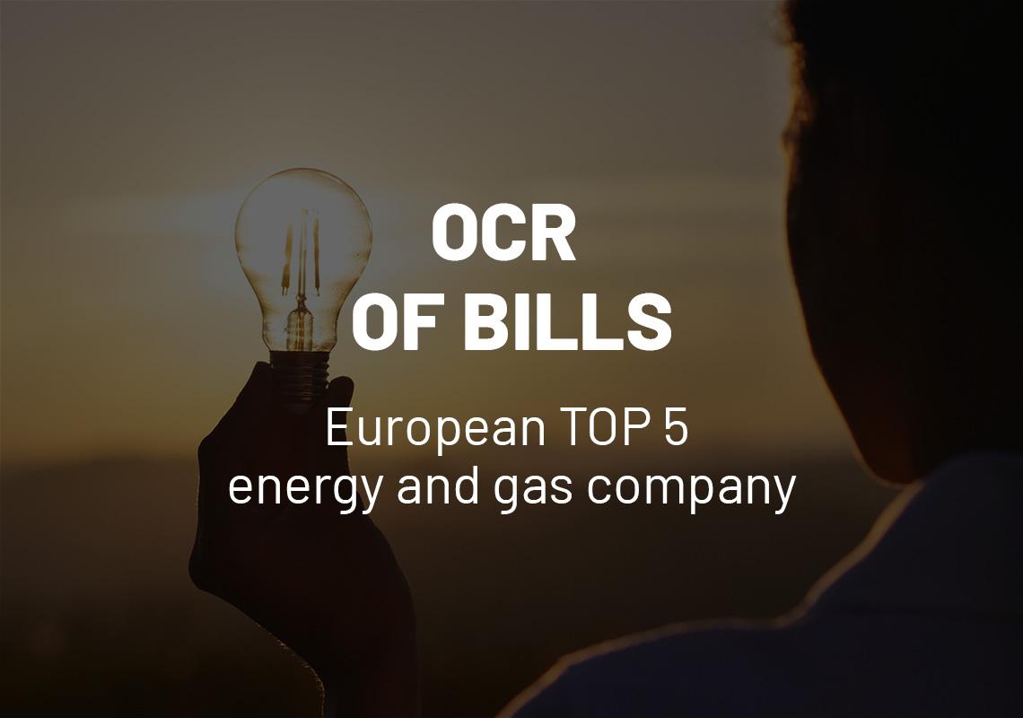 OCR of bills