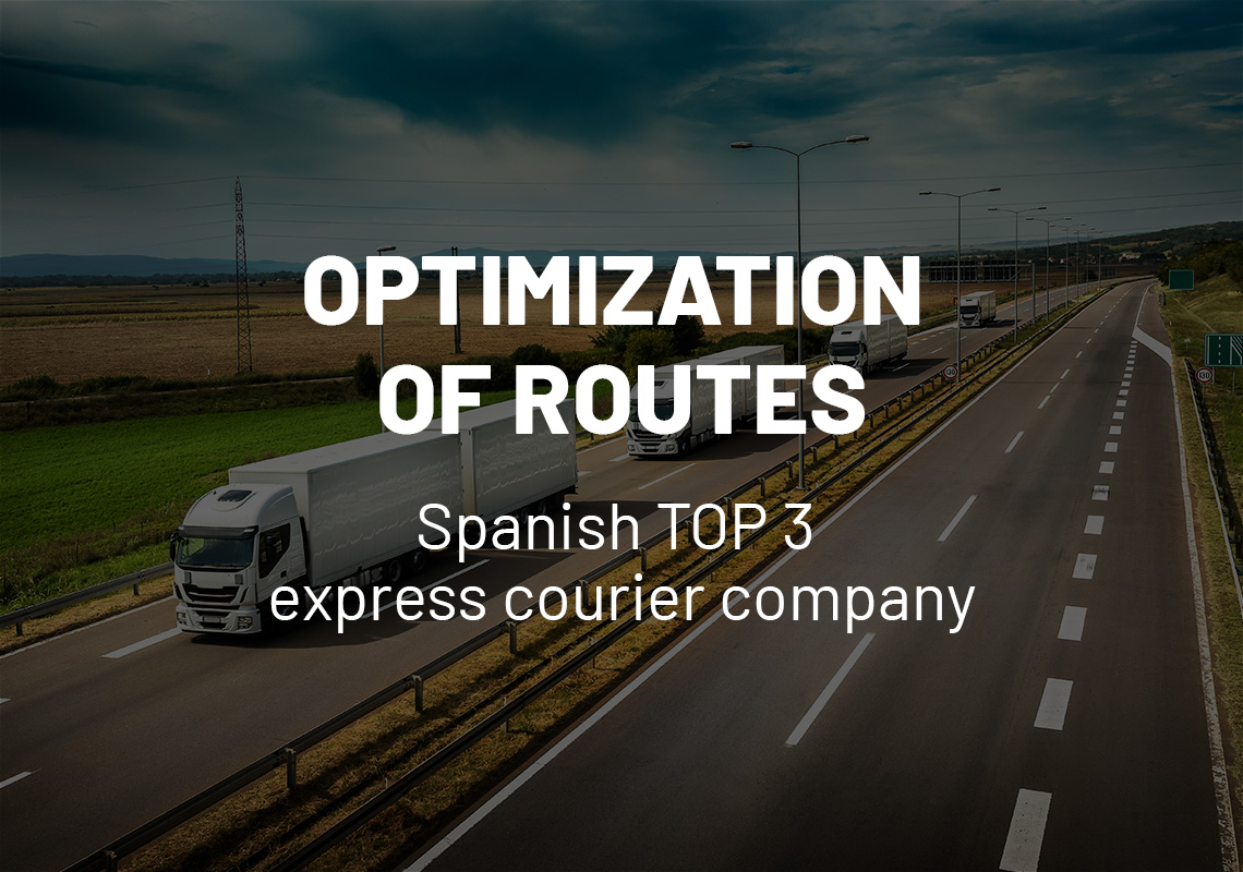 Optimization of routes