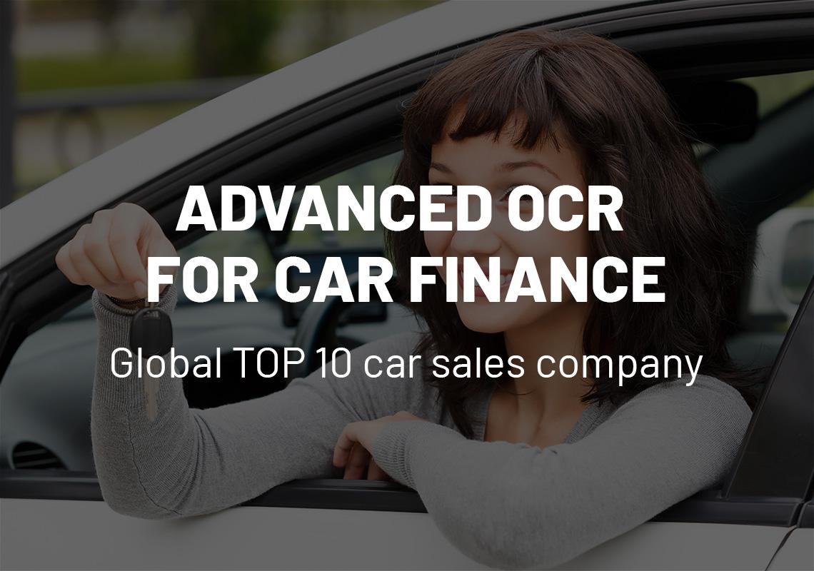 Advanced OCR for car finance