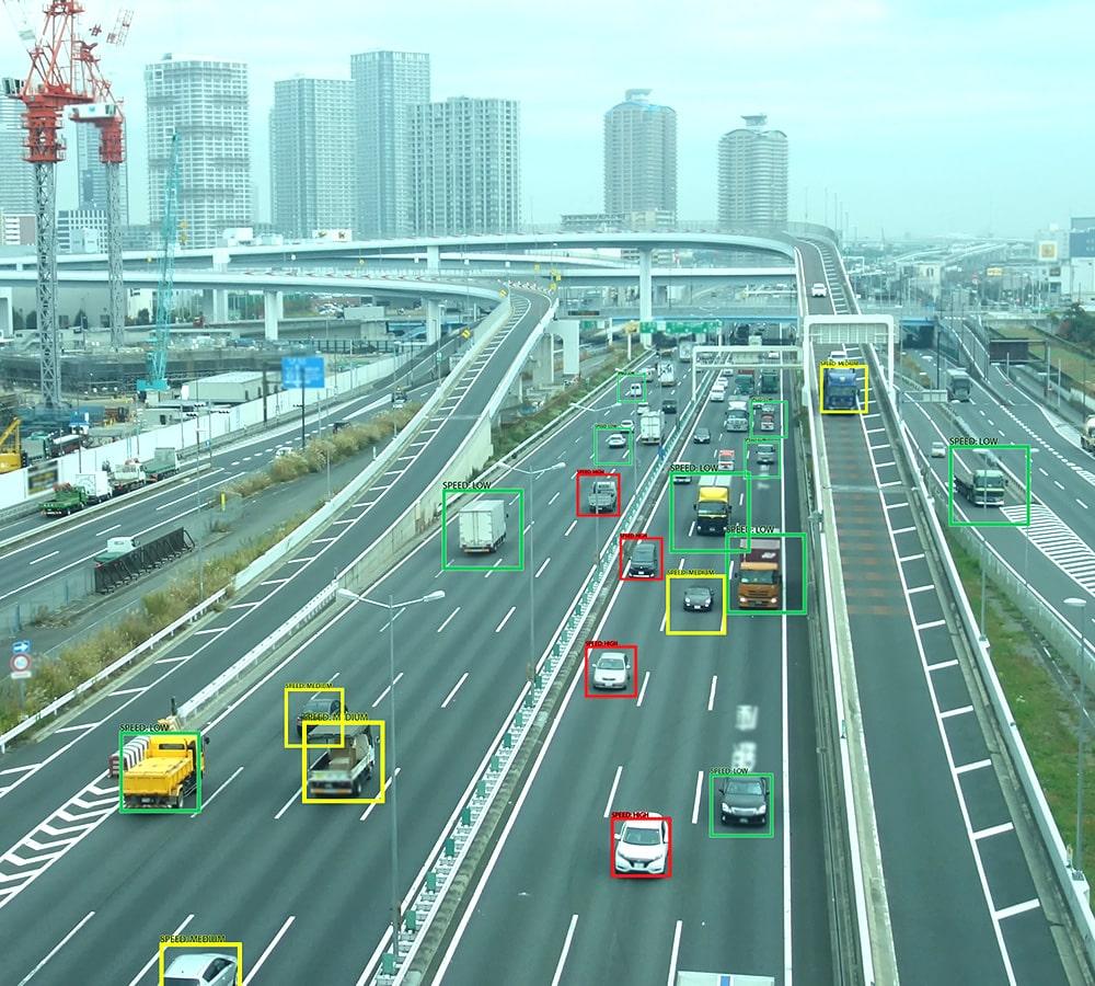 Autopista, análisis de vehículos